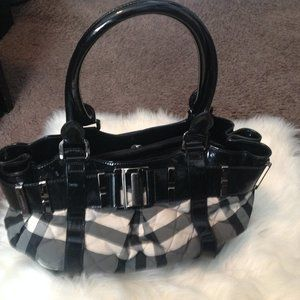 Burberry Quilted - Patent Leather Bag